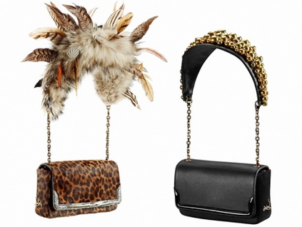 Леопардовая сумочка Christian Louboutin (Кристиан Лубутин) с декором из перьев.