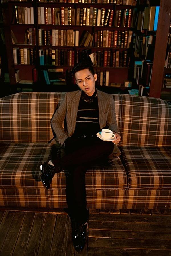 Hình ảnh chững chạc và lịch lãm của Hoài Lâm trong album mới.