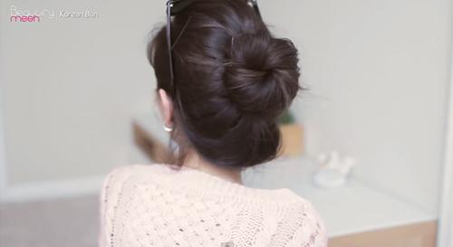 tóc búi Hàn Quốc, đẹp online