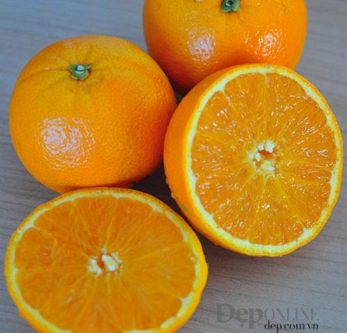 Cứu làn da cháy nắng bằng nước cam + dấm táo
