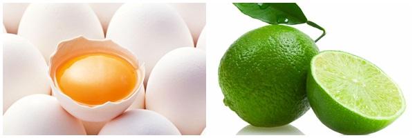trị mụn từ trứng gà và chanh tươi deponline