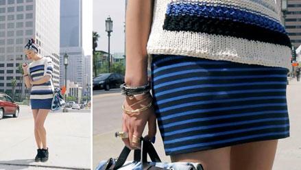 đầm liền và áo len oversized