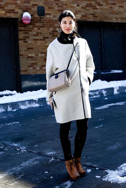 áo khoác màu kem, Streetstyle cho những ngày rét đậm