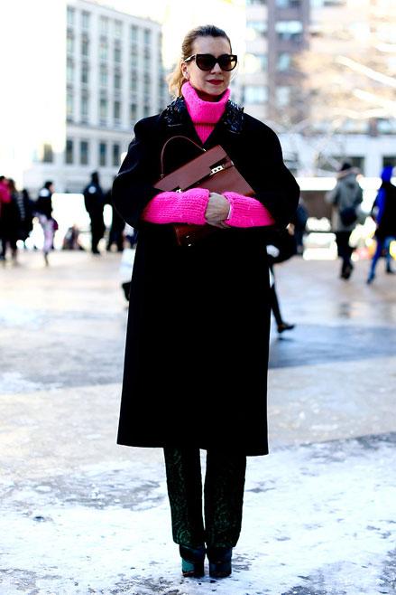 áo len màu neon, Streetstyle cho những ngày rét đậm