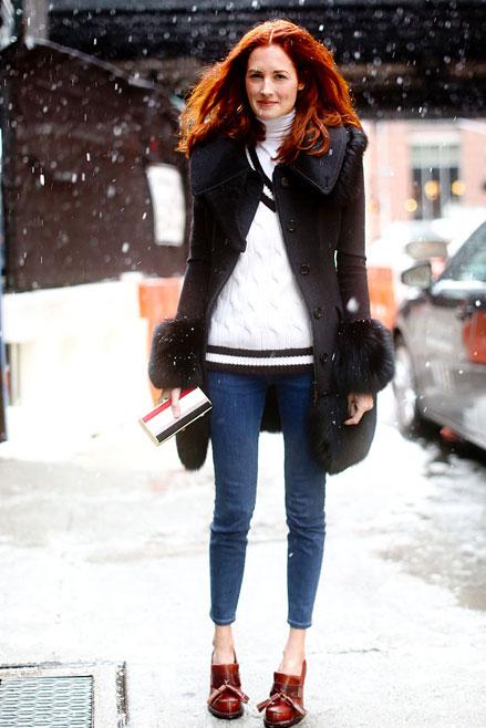 jeans, Streetstyle cho những ngày rét đậm