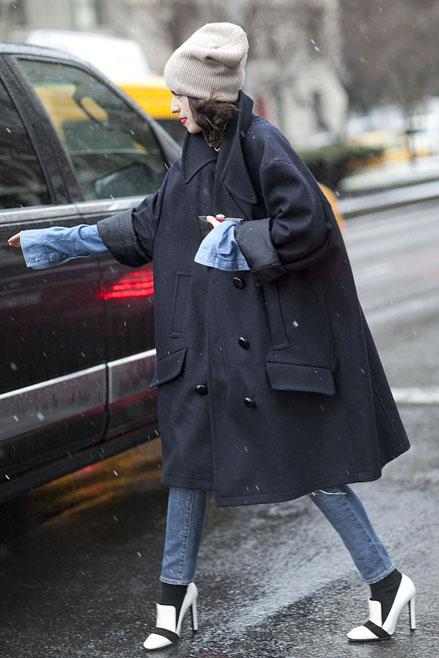 áo choàng oversize, Streetstyle cho những ngày rét đậm