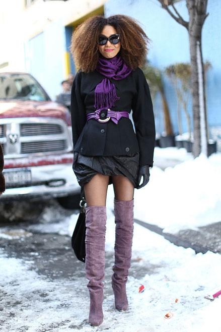 boots cao cổ, Streetstyle cho những ngày rét đậm