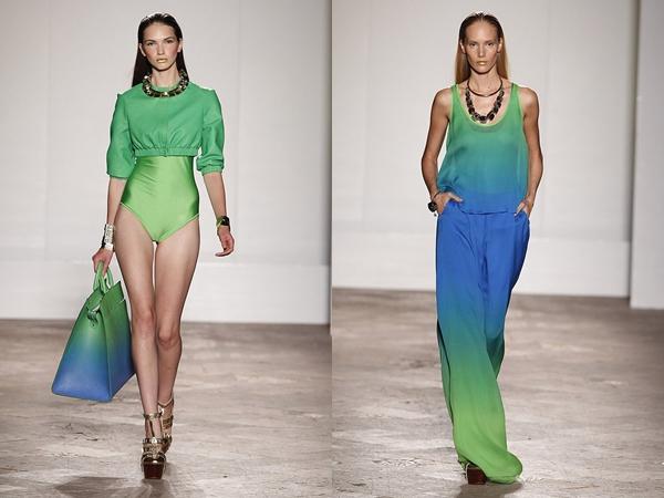 Thời trang, xu hướng, màu xanh