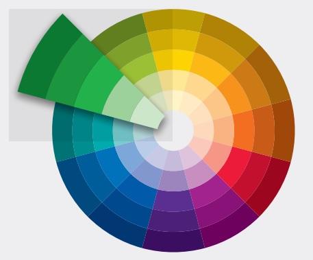 Màu sắc với độ đậm nhạt khác nhau
