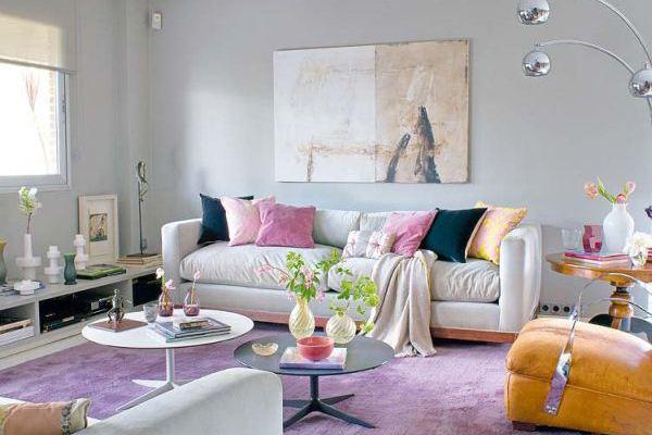 Một kiểu phối màu tương phản bổ sung trong nội thất