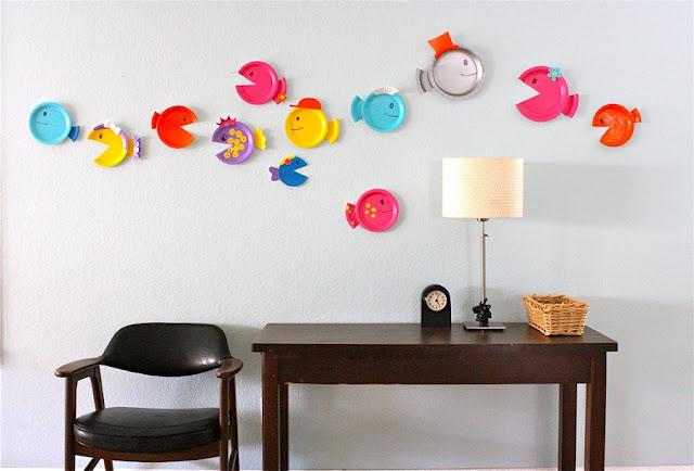 Những chú cá xinh làm từ đĩa dùng một lần!