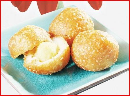 banh khoai lang Học làm bánh: Bánh khoai lang đậu xanh