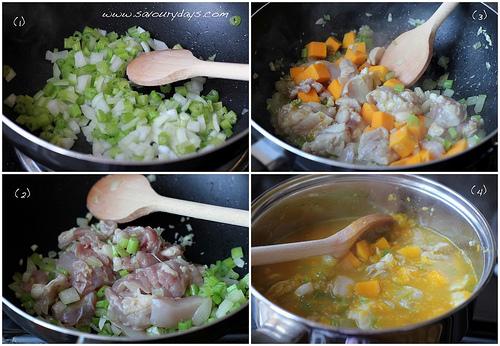 Chicken and Pumpkin Soup - method