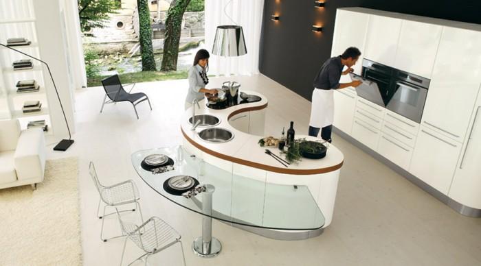 Thiết kế bếp nhà hàng kiểu ốc đảo