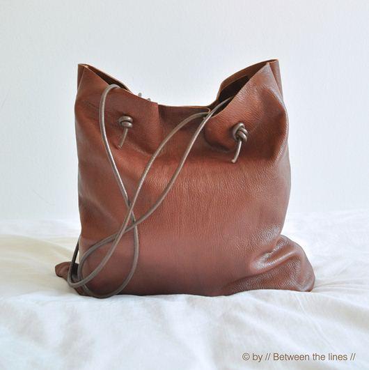 Мастер-класс по пошиву очень простой и по выполнению и по внешнему виду сумки из плотной кожи.