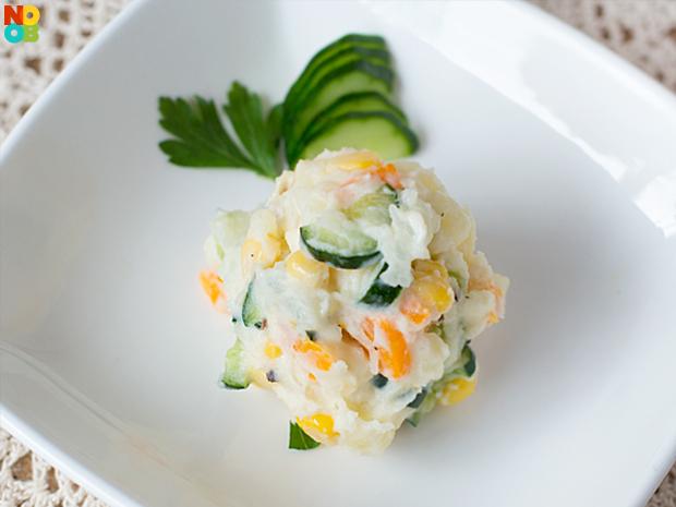 salad khoai tây, salad khoai tây kiểu Nhật, salad kiểu Nhật, cách làm salad khoai tây