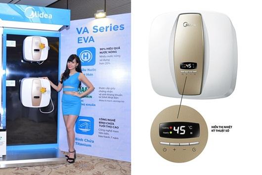 Midea giới thiệu 2 mẫu máy giặt và máy nước nóng mới