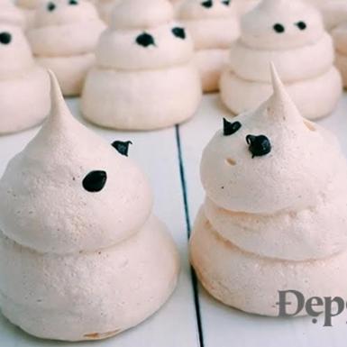 """Hướng dẫn cách làm bánh """"con ma nhí"""" Ghost Maringue đón Halloween"""