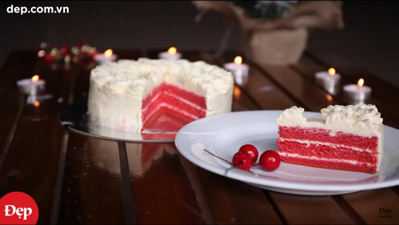 Làm bánh Red Velvet cho mùa Giáng Sinh (Red Velvet Cake – Christmas Cake Recipe)