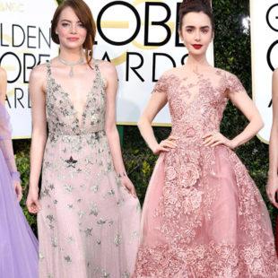 """Lily Collins, Emma Stone """"khuynh đảo"""" thảm đỏ Lễ trao giải Quả cầu vàng 2017"""