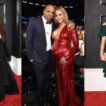 Ánh kim, đỏ và xanh tỏa sáng trên thảm đỏ Grammy 2017