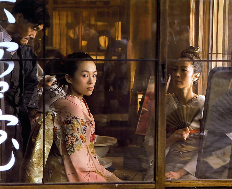 "© Sun Haibin/CHINAFOTOPRESS/MAXPPP.BEIJING, CHINA - NOV.26,2005: (CHINA OUT) The still photo of Zhang Ziyi(L) and Michelle Yeoh in ""memories of geisha"""