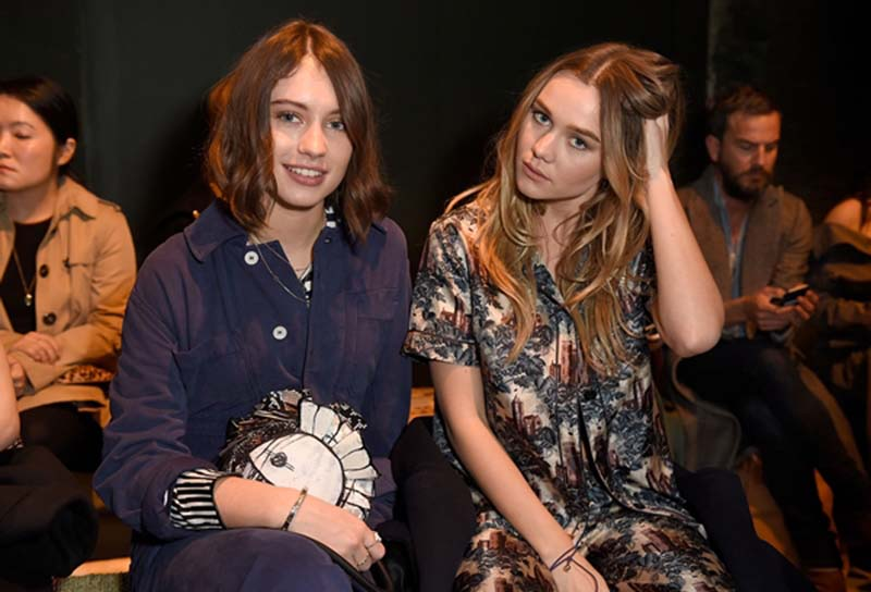 LONDON, ENGLAND - FEBRUARY 20:  Iris Law (L) and Immy Waterhouse wearing Burberry attend the Burberry February 2017 Show during London Fashion Week February 2017 at Makers House on February 20, 2017 in London, England.  (Photo by David M. Benett/Dave Benett/Getty Images for Burberry) *** Local Caption *** Iris Law; Immy Waterhouse