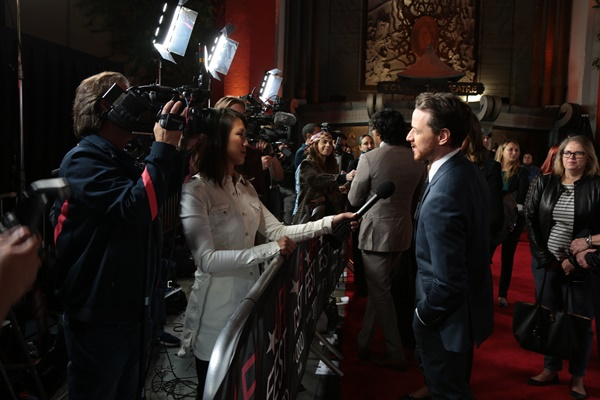 """James McAvoy is interviewed as Universal Pictures present """"Split"""" AFI Fest Special Screening at the TCL Chinese Theatre in Los Angeles, CA on Tuesday, November 15, 2016. (Photo: Alex J. Berliner/ABImages)"""