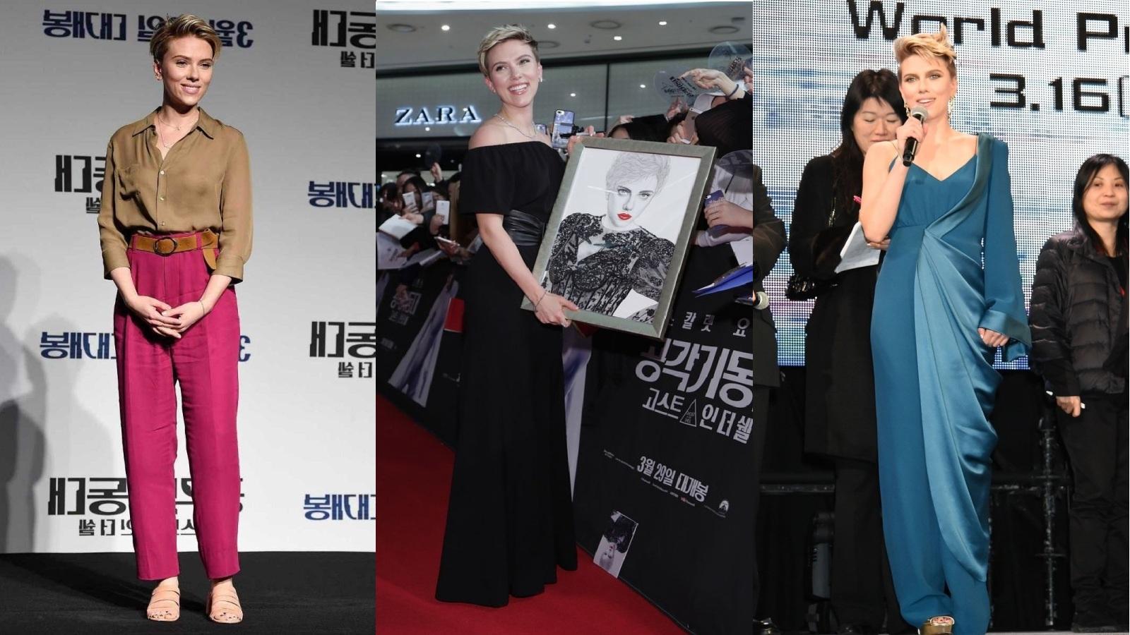 """Scarlett Johansson đẹp không rời mắt trên thảm đỏ công chiếu siêu phẩm """"Vỏ bọc ma"""""""