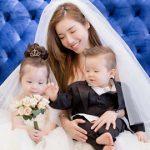Hai thiên thần nhỏ của Elly Trần hóa thân thành cô dâu chú rể nhí