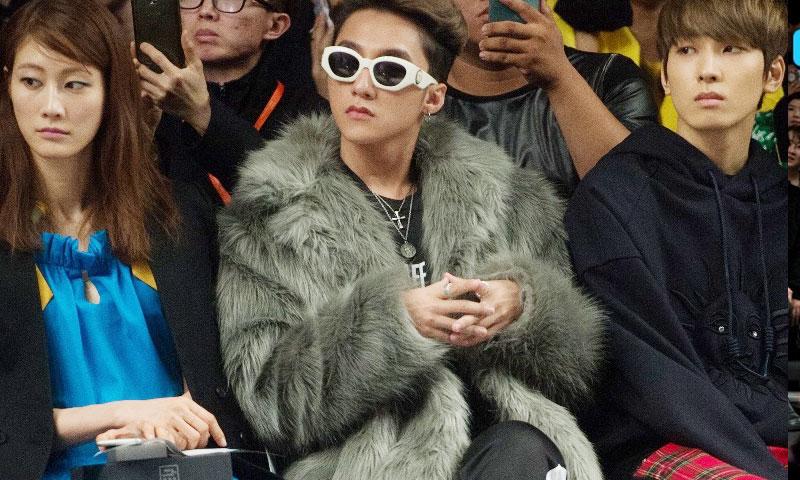Sơn Tùng ngồi hàng ghế VIP xem show thời trang tại Hàn Quốc