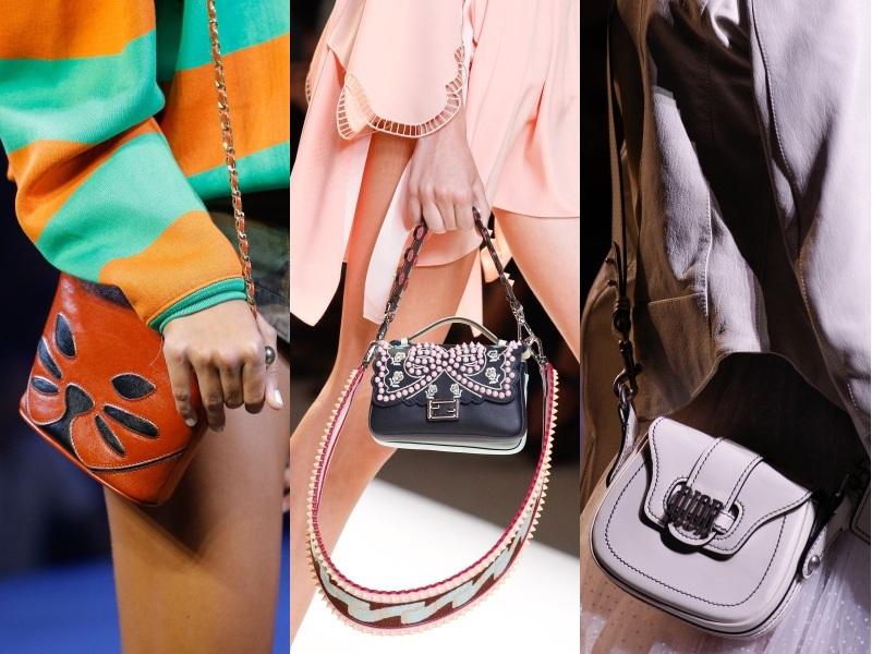 Đẹp xuất sắc dù đeo chéo, đeo vai hay cầm tay, túi mini như một món trang sức kiêu kỳ giúp nàng hoàn thiện diện mạo rạng ngời khi xuống phố (Từ trái qua: Marc Jacobs, Fendi, Christian Dior)