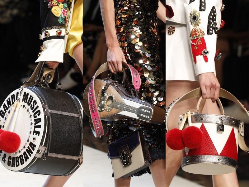 Dolce & Gabbana nổi bật với các thiết kế túi mô phỏng nhạc cụ độc đáo