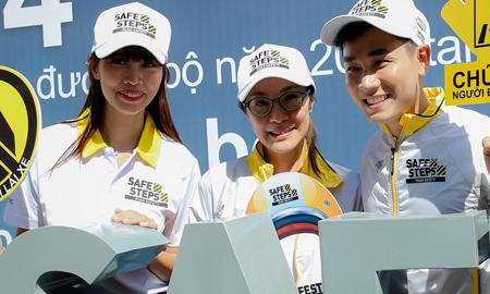 Siêu mẫu Hà Anh, MC Nguyên Khang tuyên truyền an toàn giao thông cùng Dương Tử Quỳnh