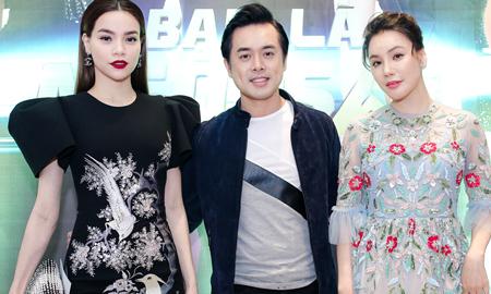 Hồ Quỳnh Hương, Hồ Ngọc Hà và Dương Khắc Linh hội ngộ trên ghế nóng gameshow ca nhạc mới
