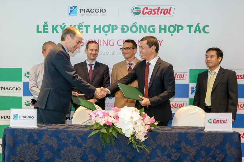 Castrol sẽ cung cấp dầu nhớt độc quyền cho xe Piaggio