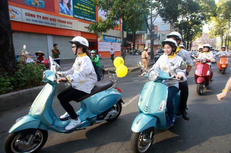 Vespa đồng hành cùng Safe Steps vì ATGT tại Việt Nam