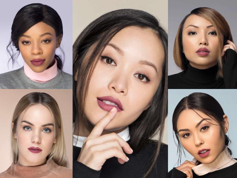 Michelle Phan xuất hiện cùng các người mẫu trong những bức hình quảng bá cho sản phẩm