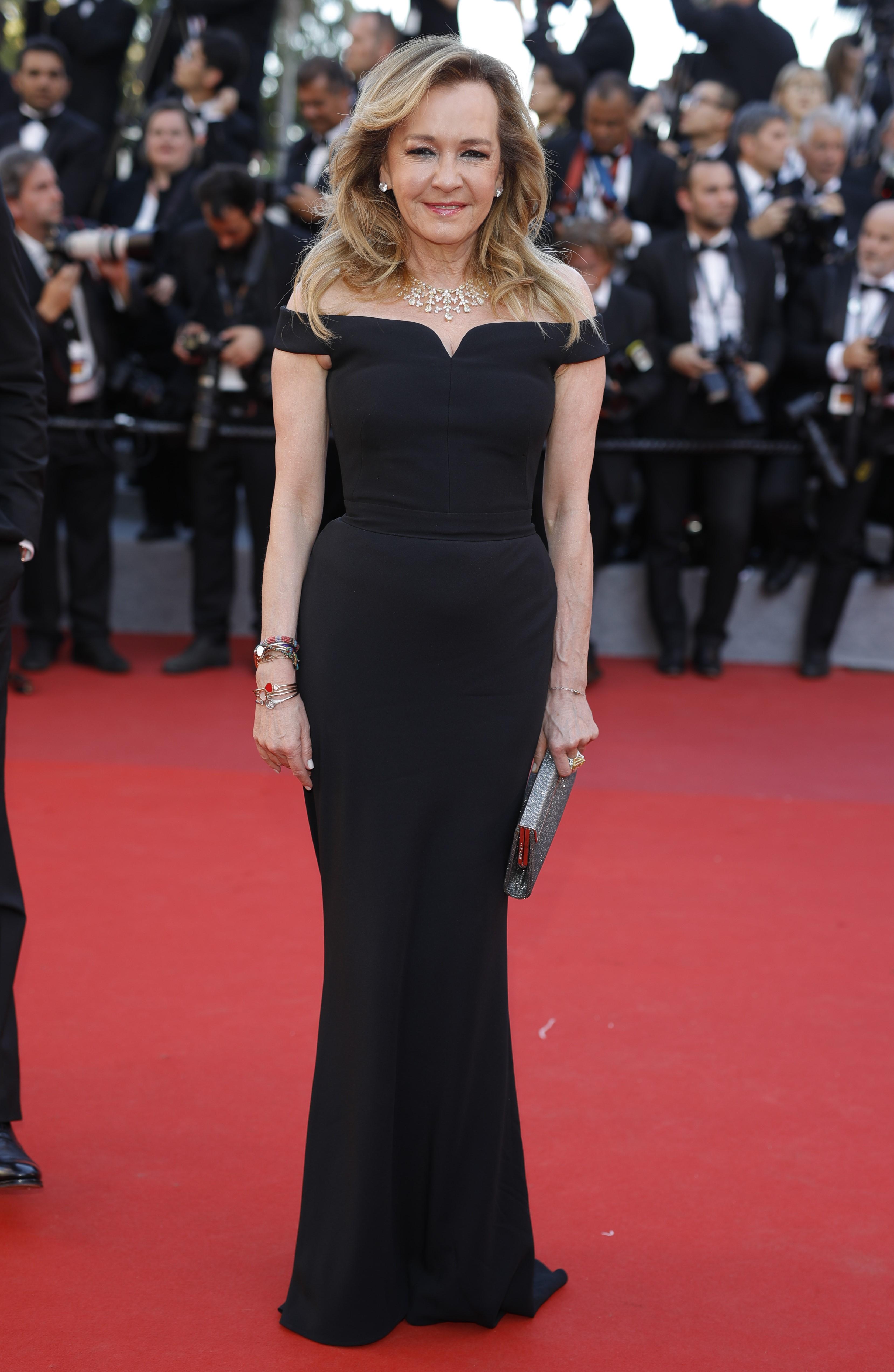 Chủ tích của Chopard, bà Caroline Scheufele cũng chọn cho mình bộ trang sức đắt tiền và sang trọng từ thương hiệu của mình.