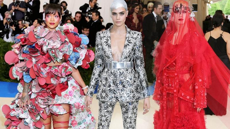 """Rihanna """"thống lĩnh"""" thảm đỏ Met Gala 2017"""