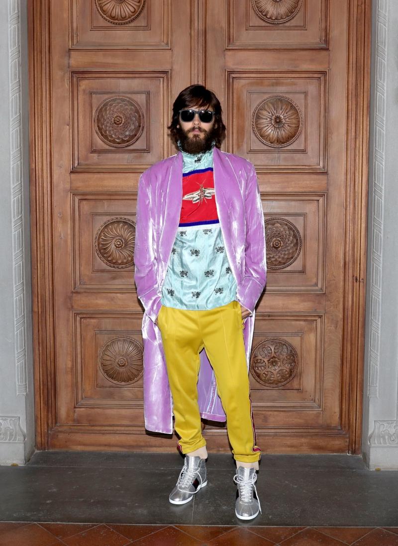 Nam diễn viên Jared Leto là gương mặt không thể thiếu trong bất kỳ show diễn nào của Gucci