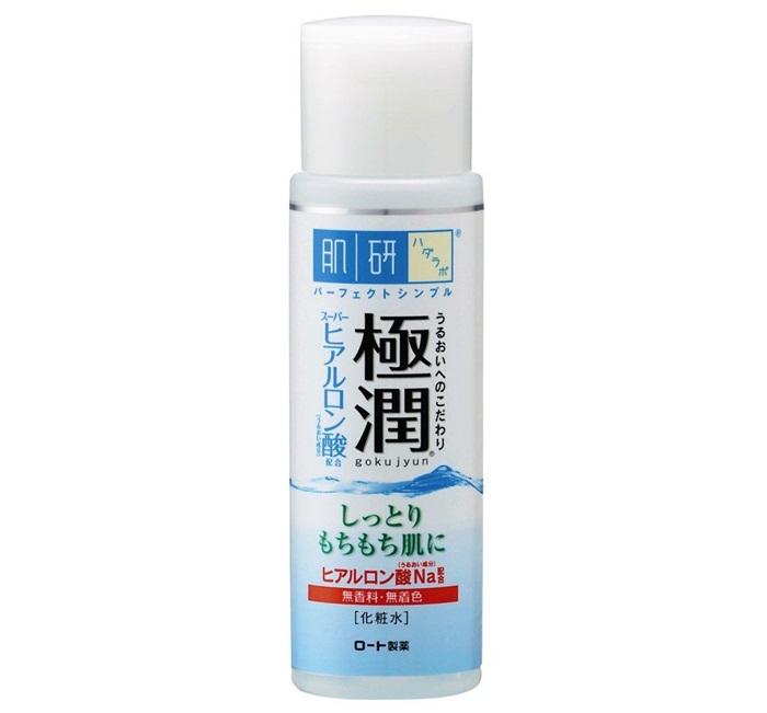Nước hoa hồng Hada Labo Gokujyun Super Hyaluronic Acid Lotion chứa Hyaluronic Acid giúp cấp nước và làm ẩm cho da