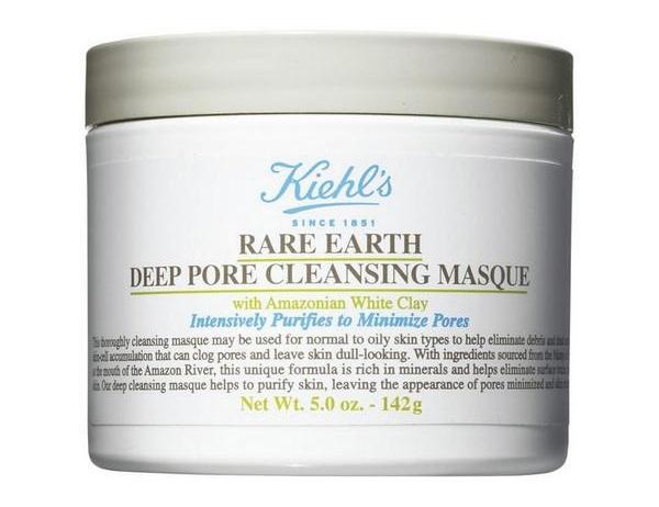 Kiehls Rare Earth Deep Pore Cleansing Masque: Mặt nạ đất sét giúp làm sạch sâu lỗ chân lông và se cồi mụn. Giá: 800.000VND