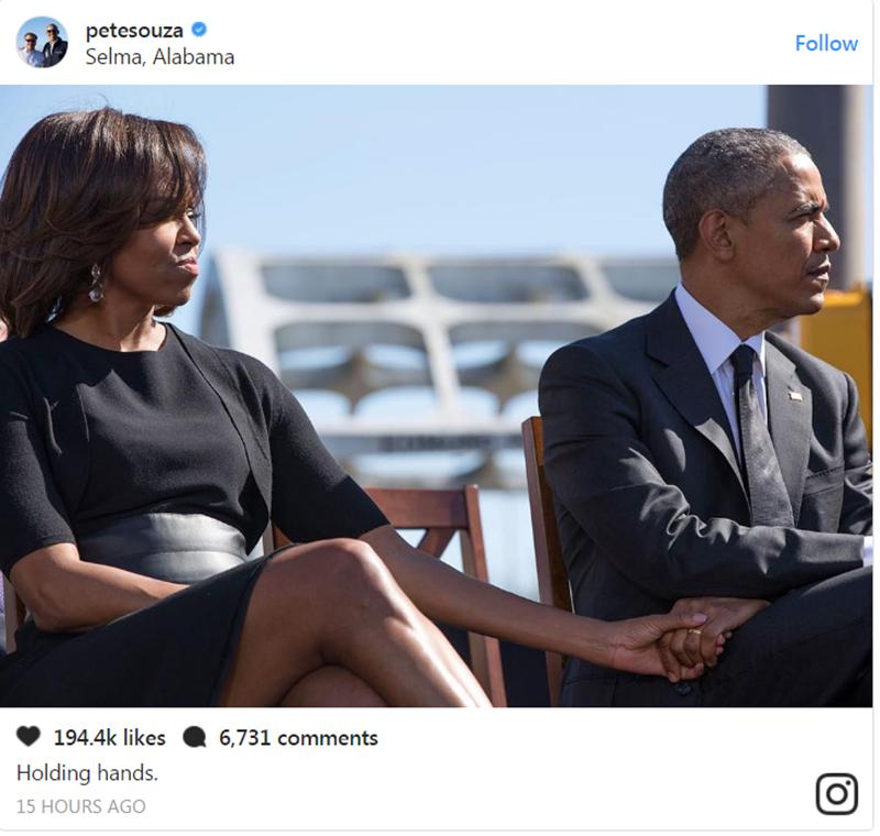 Tình cảm vợ chồng Obama dành cho nhau luôn là niềm ao ước của nhiều người