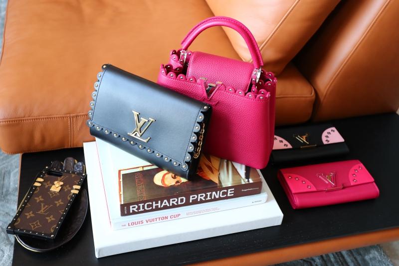Một chút biến tấu thú vị quanh viền túi xách và ví cầm tay mới của Louis Vuitton