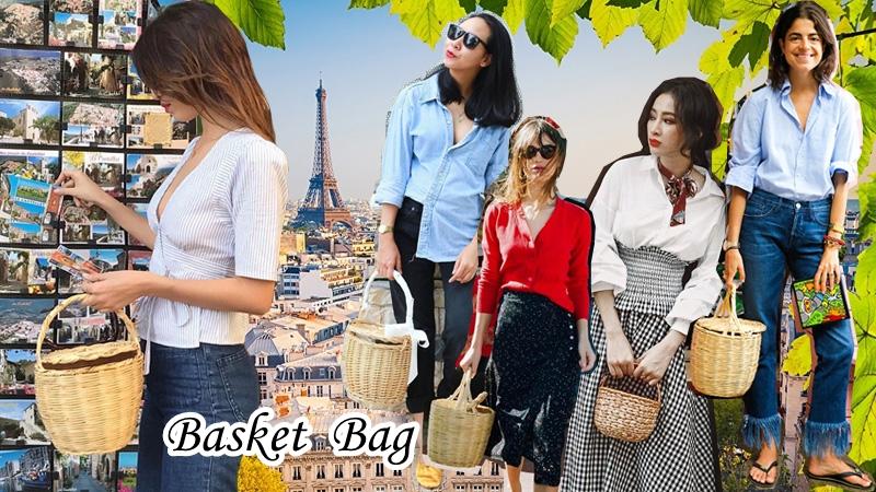"""Túi cói – phụ kiện """"bảo bối"""" của các quý cô mê đắm phong cách Parisian"""