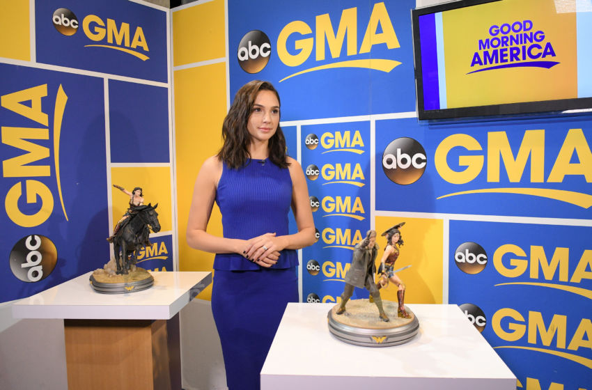 """GOOD MORNING AMERICA - The cast of """"Wonder Woman"""" visit """"Good Morning America,"""" on Tuesday, May 23, 2017, airing on the ABC Television Network. (Photo by Lorenzo Bevilaqua/ABC via Getty Images) GAL GADOT"""