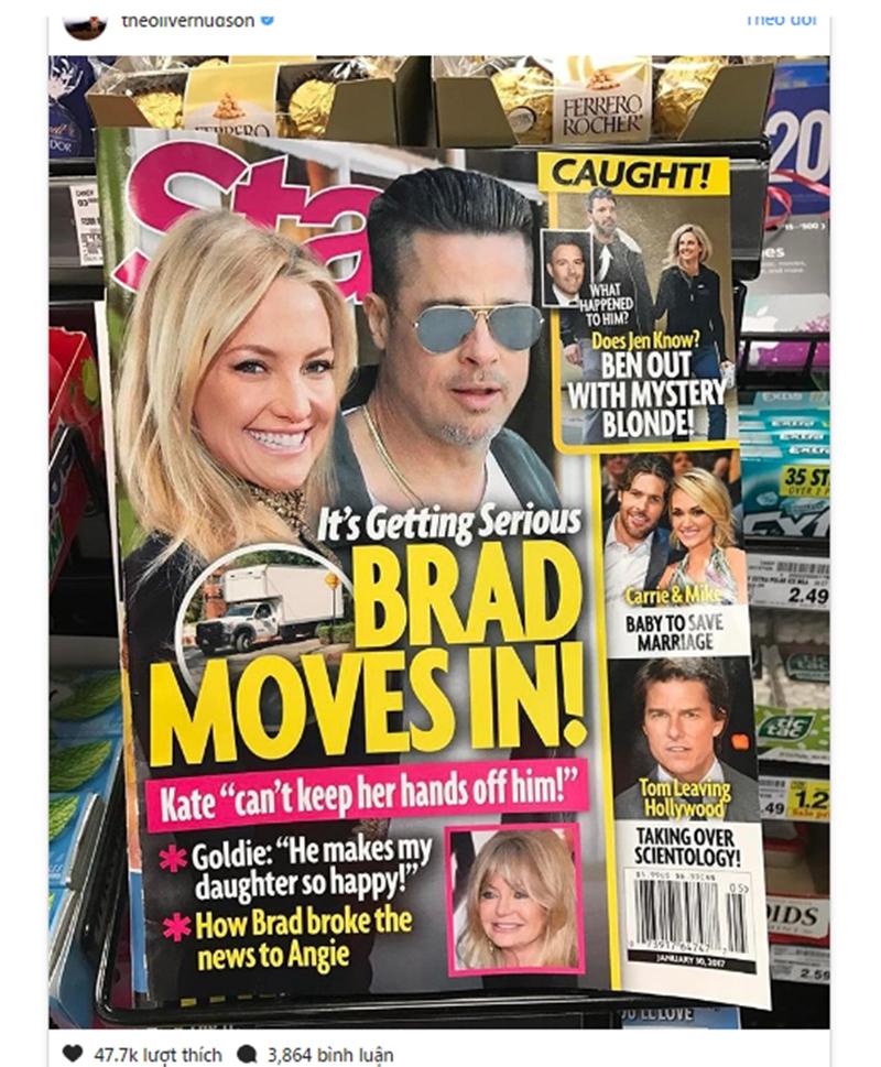 Oliver nửa đùa nửa thật than phiền về sự bừa bãi của Brakhi đến nhà anh. Từ việc Brad Pitt thường hay uống rượu, thích tiệc tùng và chỉ rời khỏi nhà với một bãi chiến trường.