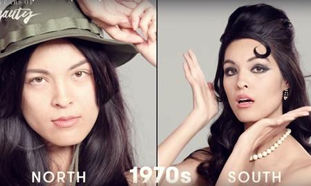 Video clip ghi lại 14 xu hướng làm đẹp kinh điển của phụ nữ Việt Nam suốt 100 năm qua