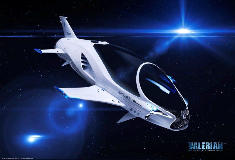 """""""Valerian và thành phố ngàn hành tinh"""" cùng phi thuyền Skyjet của Lexus"""